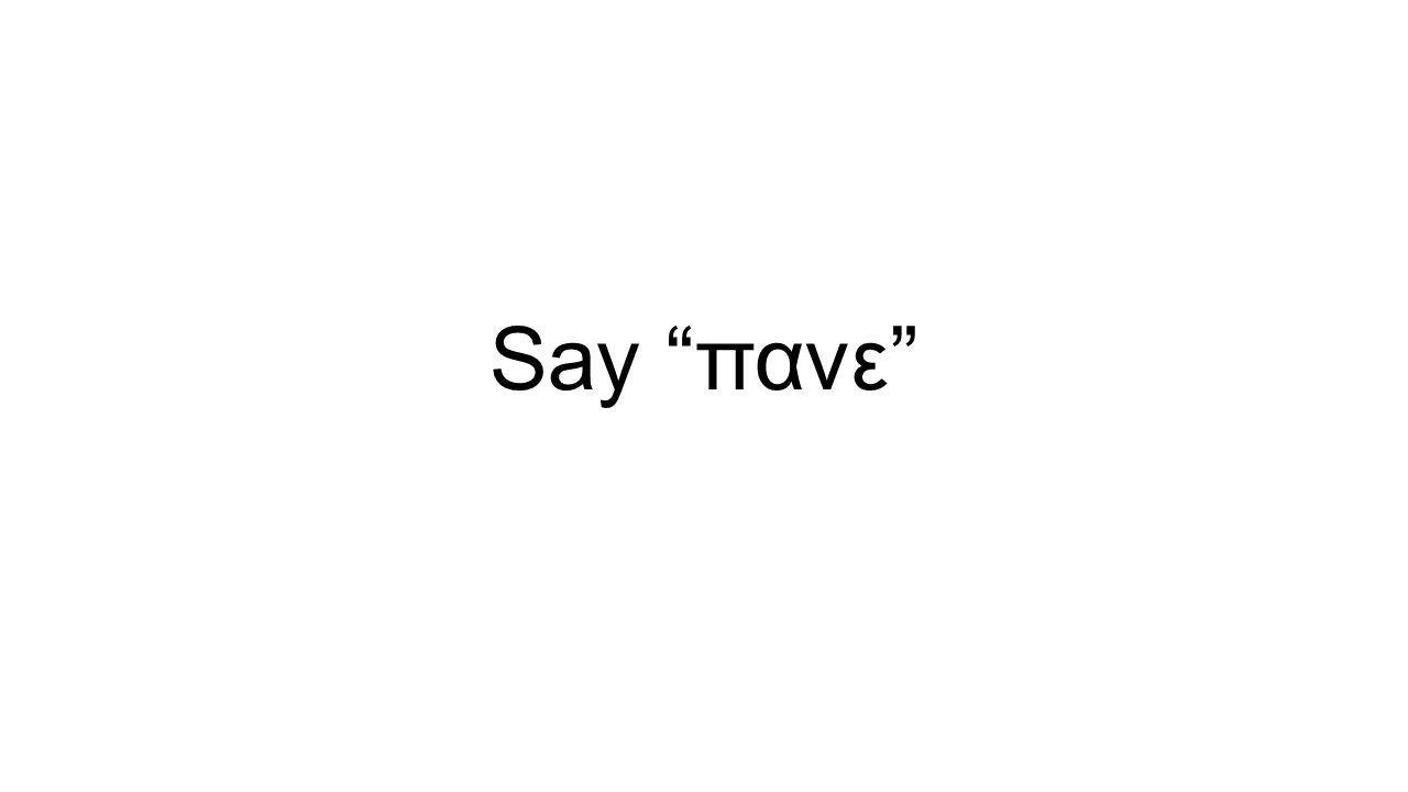 Say πανε