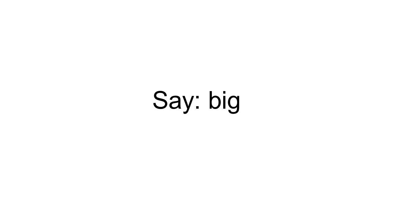 Say: big