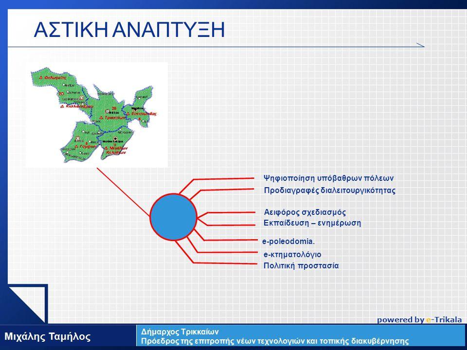 LOGO Ψηφιοποίηση υπόβαθρων πόλεων Προδιαγραφές διαλειτουργικότητας Αειφόρος σχεδιασμός e-poleodomia.