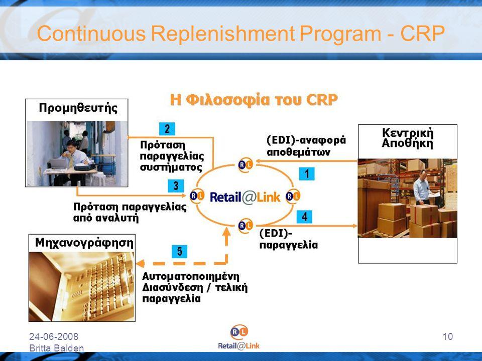 24-06-2008 Britta Balden 10 Continuous Replenishment Program - CRP