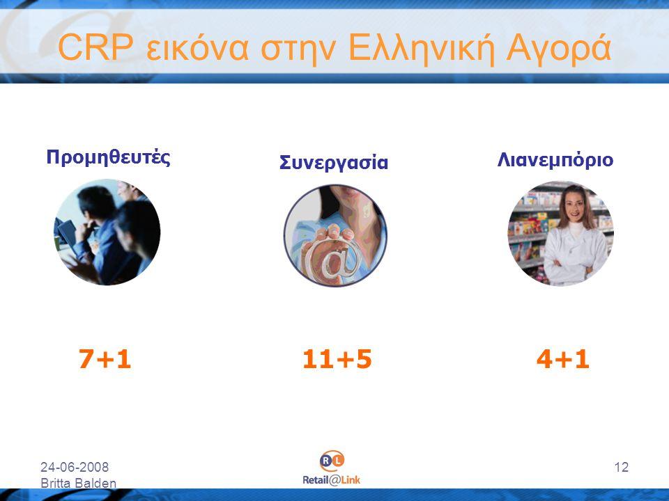 24-06-2008 Britta Balden 12 CRP εικόνα στην Ελληνική Αγορά Προμηθευτές Λιανεμπόριο Συνεργασία 7+14+111+5