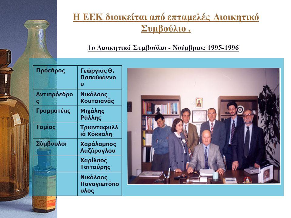 1ο Διοικητικό Συμβούλιο - Νοέμβριος 1995-1996 ΠρόεδροςΓεώργιος Θ.