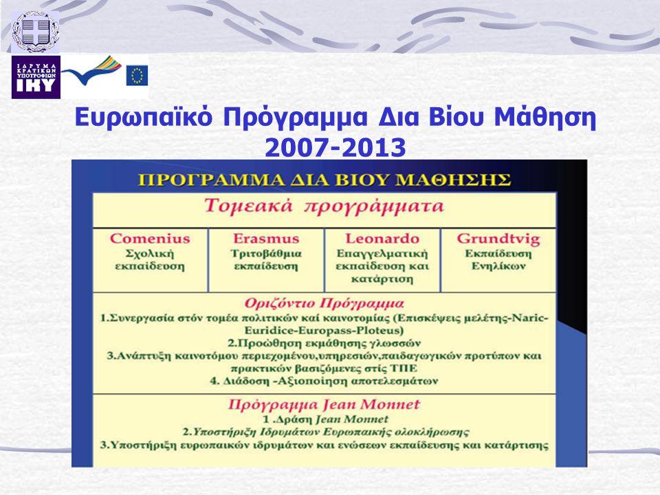 Ευρωπαϊκό Πρόγραμμα Δια Βίου Μάθηση 2007-2013