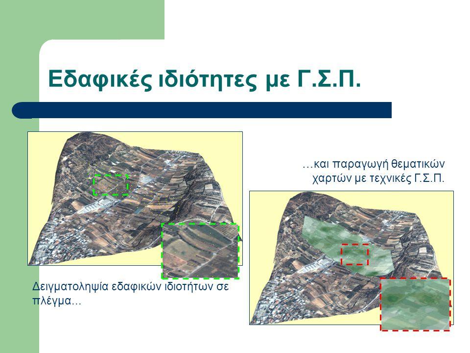 Εδαφικές ιδιότητες με Γ.Σ.Π. Δειγματοληψία εδαφικών ιδιοτήτων σε πλέγμα... …και παραγωγή θεματικών χαρτών με τεχνικές Γ.Σ.Π.