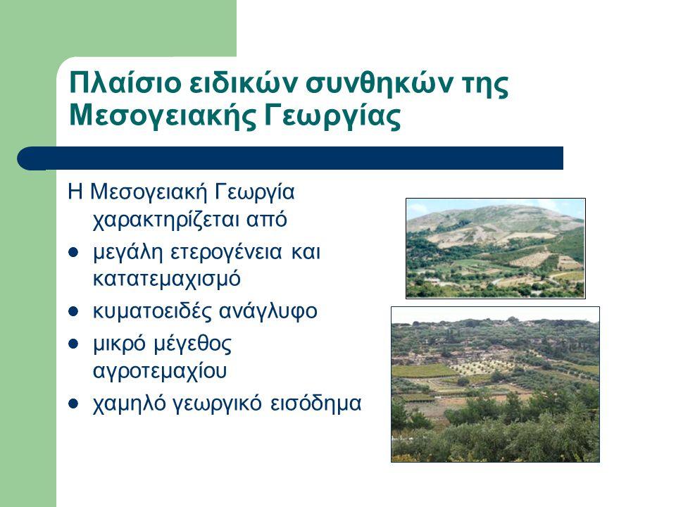 ΧΔΔΝ στη Μεσογειακή Γεωργία Η ΧΔΔ στη Μεσογειακή Γεωργία πρέπει να είναι οικονομική ως επένδυση να είναι οικονομική στην εφαρμογή να είναι εύκολη η υιοθέτησή τους (φιλικές στο χρήστη και με σύντομη κατάρτιση) αποδοτικές στην εξοικονόμηση νερού και/ ή βελτίωση του εισοδήματος τους αγρότη