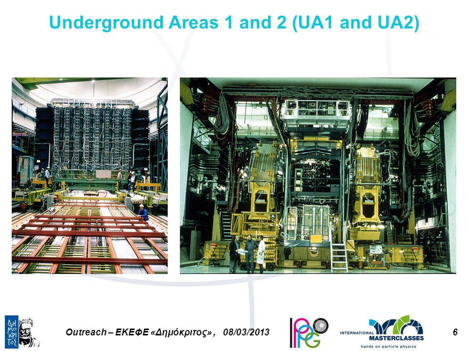 6Outreach – ΕΚΕΦΕ «Δημόκριτος», 08/03/2013 Underground Areas 1 and 2 (UA1 and UA2)