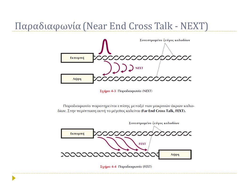 Παραδιαφωνία (Near End Cross Talk - NEXT)