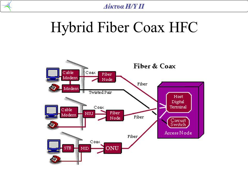 Δίκτυα Η/Υ ΙΙ Hybrid Fiber Coax HFC