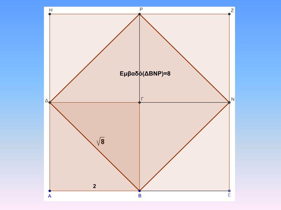 Σύγχρονη γεωμετρική απόδειξη Στο τετράγωνο ΑΒΓΔ η ΔΒ είναι διαγώνιος, άρα Εντελώς όμοια και στα άλλα τρία τετράγωνα, έχουμε: Προσθέτοντας κατά μέλη όλες τις παραπάνω ισότητες παίρνουμε: