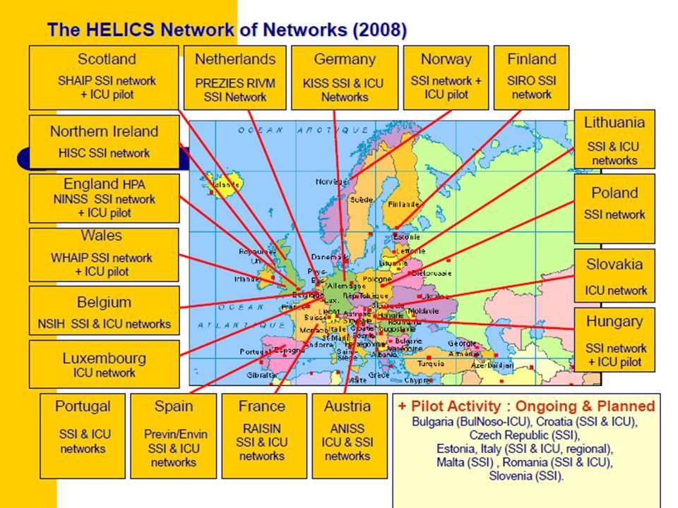 ΕΠΙΤΗΡΗΣΗ ΣΤΗΝ ΕΥΡΩΠΗ HELICS co-operation HELICS 1 /1994-95HELICS 1 /1994-95 Τα πρώτα πρωτόκολλα για λοιμώξεις Χειρουργικού Πεδίου (SSI) και λοιμώξεις