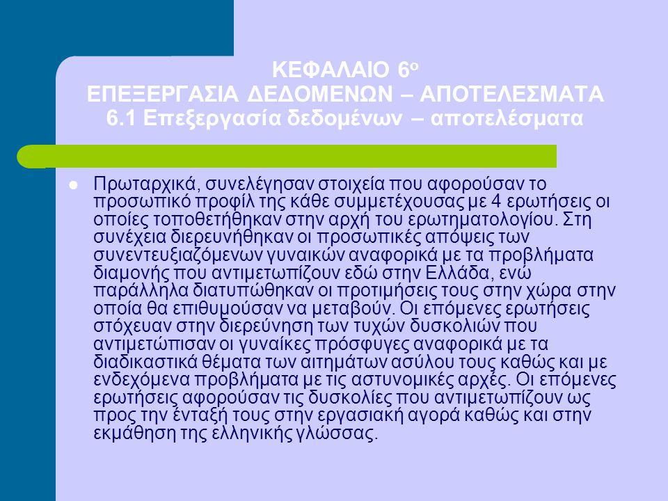 ΚΕΦΑΛΑΙΟ 6 ο ΕΠΕΞΕΡΓΑΣΙΑ ΔΕΔΟΜΕΝΩΝ – ΑΠΟΤΕΛΕΣΜΑΤΑ 6.1 Επεξεργασία δεδομένων – αποτελέσματα Πρωταρχικά, συνελέγησαν στοιχεία που αφορούσαν το προσωπικό