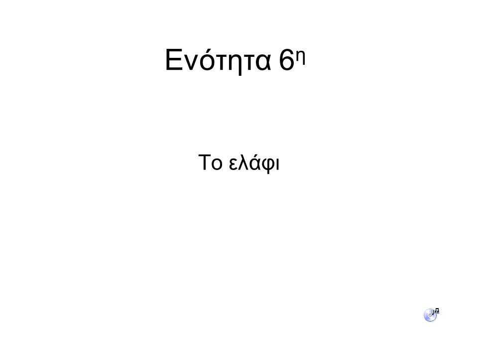 Ενότητα 6 η Το ελάφι