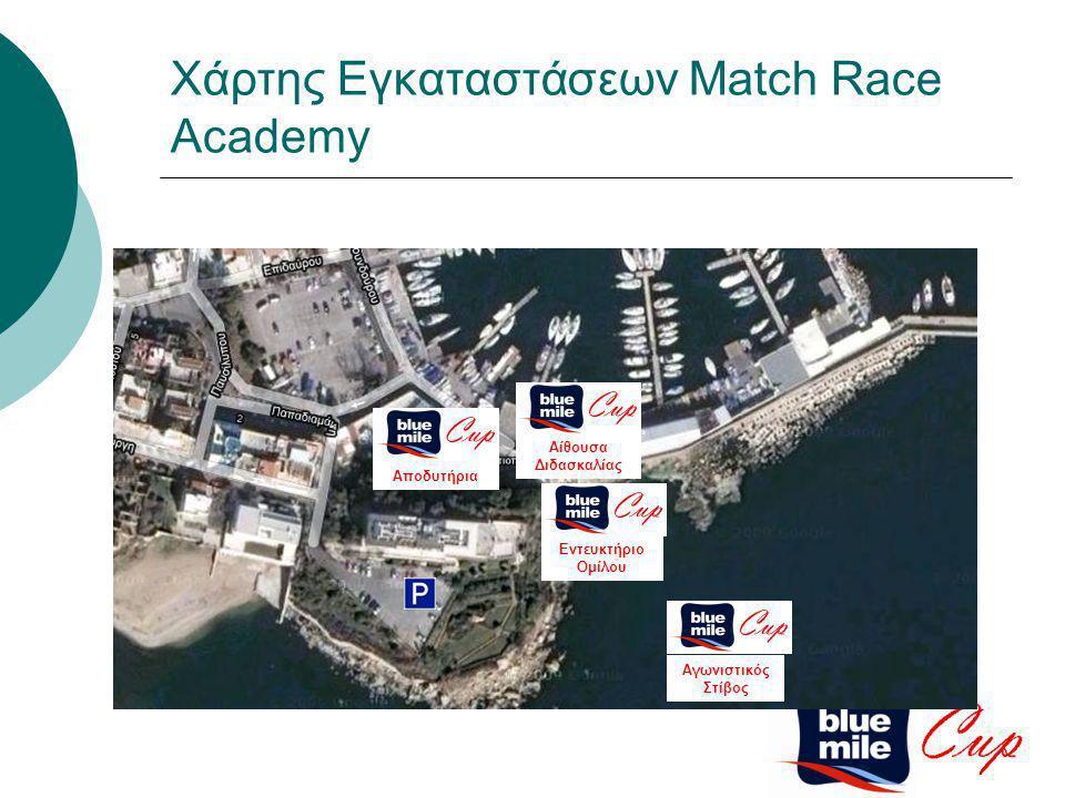 Αγωνιστικός Στίβος Αποδυτήρια Χάρτης Εγκαταστάσεων Match Race Academy Εντευκτήριο Ομίλου Αίθουσα Διδασκαλίας