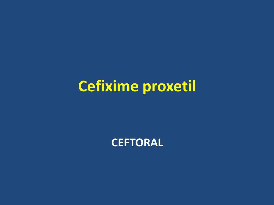 Cefixime proxetil CEFTORAL