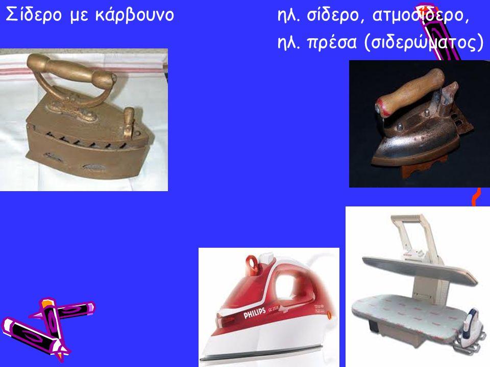 Αντικείμενα του τότε Αντικείμενα του σήμερα Ηλεκτρικές συσκευές