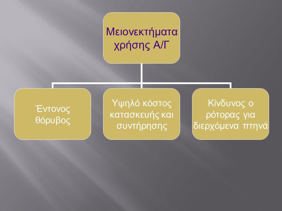 Ποια είναι η διαδικασία παραγωγής ηλεκτρικής ενέργειας από Α/Γ; Η ανεμογεννήτρια επιτελεί την λειτουργία της μόνο σε συγκεκριμένες ταχύτητες ανέμου.