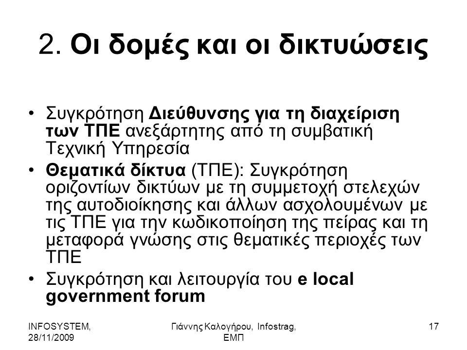 INFOSYSTEM, 28/11/2009 Γιάννης Καλογήρου, Infostrag, ΕΜΠ 17 2.