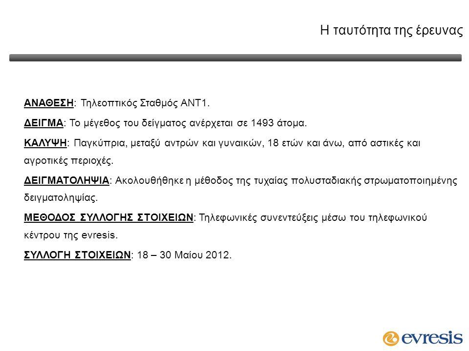 Επεξεργασία στοιχείων Οι διαδικασίες ελέγχου και αξιοπιστίας των δεδομένων που έλαβαν χώρα είναι οι εξής: Παρακολούθηση ερευνητών κατά τη διάρκεια της λήψης συνεντεύξεων με την χρήση του ειδικού συστήματος τηλεφωνικών συνεντεύξεων Telescript, το οποίο διασφαλίζει την υψηλότερη ποιότητα συλλογής δεδομένων μέσω της συνεχούς παρακολούθησης της εξέλιξης των συνεντεύξεων.
