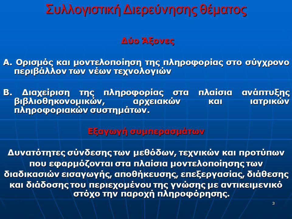 3 Συλλογιστική Διερεύνησης θέματος Δύο Άξονες Δύο Άξονες Α.
