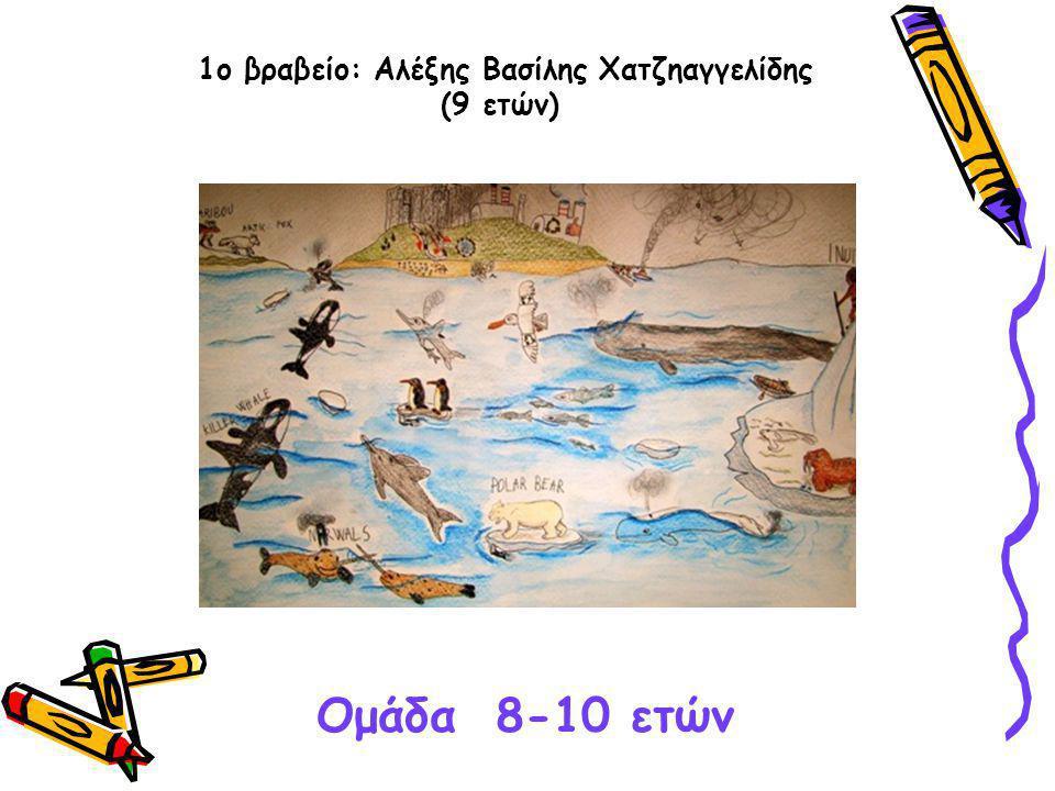 1ο βραβείο: Αλέξης Βασίλης Χατζηαγγελίδης (9 ετών) Ομάδα 8-10 ετών