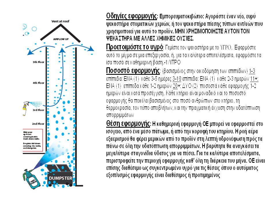 Αποτελεσματικά αποβάλλει τις μυρωδιές άμεσα στην επαφή ΟΕ.μυρωδιών ΜILLENNIUM είναι μια υγρή &στερεή εφαρμογή που αποβάλλει τις δυσάρεστες μυρωδιές στην πηγή.