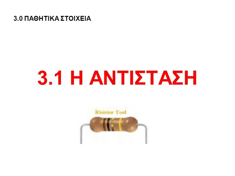 3.1 Η ΑΝΤΙΣΤΑΣΗ 3.0 ΠΑΘΗΤΙΚΑ ΣΤΟΙΧΕΙΑ