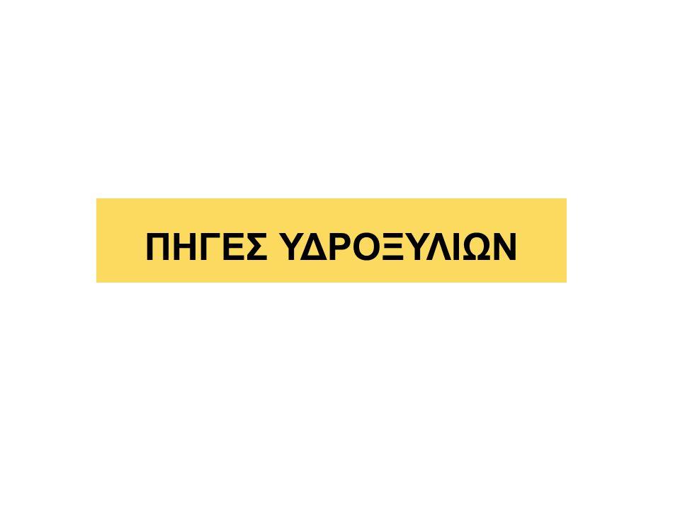 ΠΗΓΕΣ ΥΔΡΟΞΥΛΙΩΝ