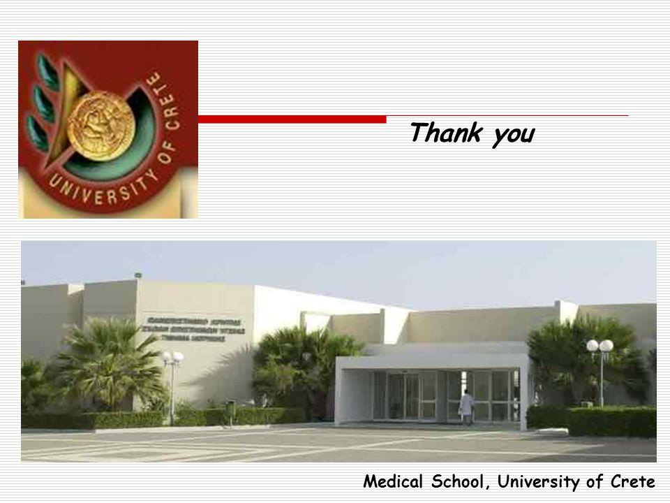 Medical School, University of Crete Thank you