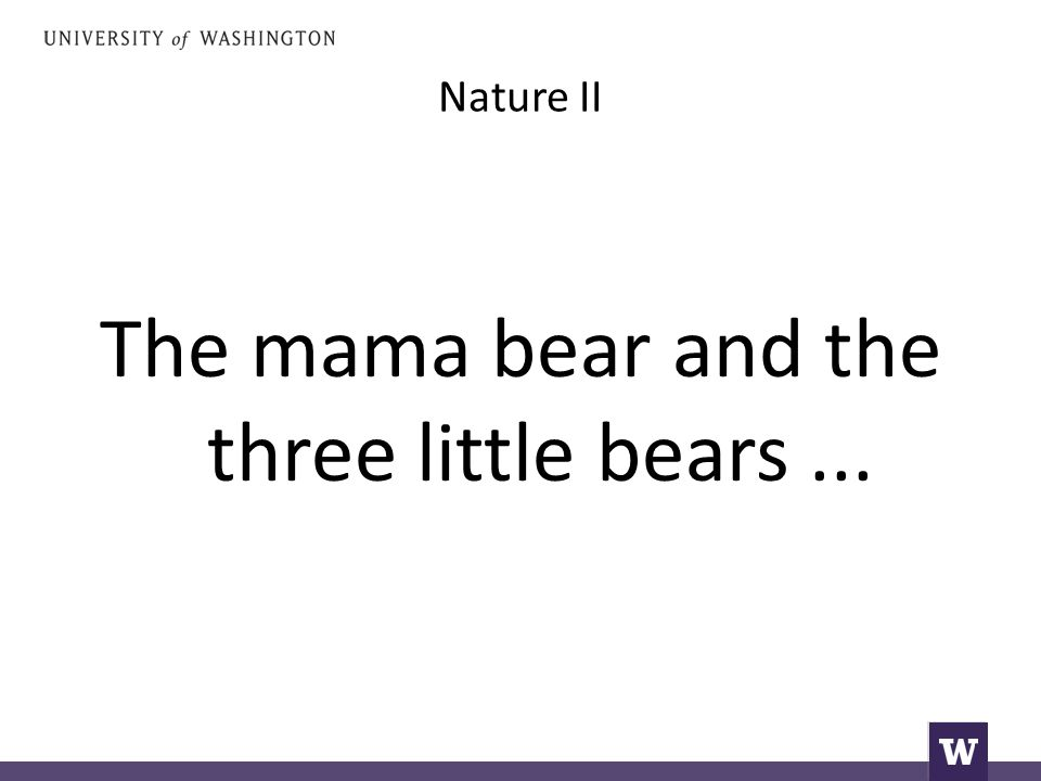 Nature II The mama bear and the three little bears...
