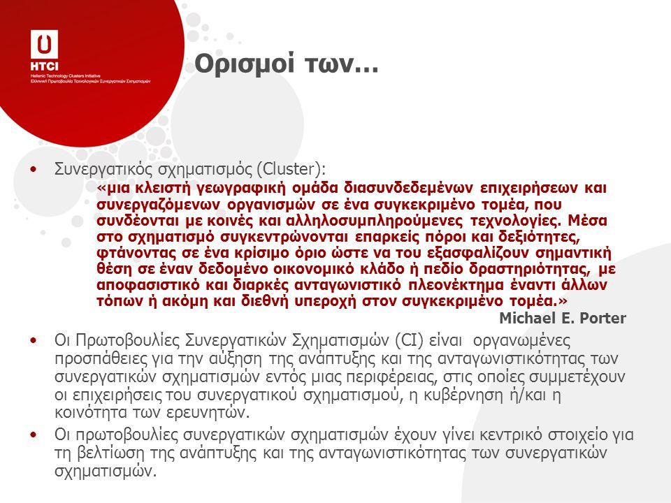 Χαρακτηριστικά* των Πρωτοβουλιών Συνεργατικών Σχηματισμών Απαντώνται συχνότερα στις ανεπτυγμένες και μεταβατικές οικονομίες.