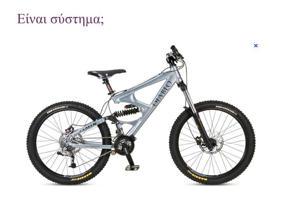 + Διερεύνηση – Το ποδήλατο ως σύστημα Να περιγράψετε το ποδήλατο ως σύστημα και να το δημιουργήσετε.