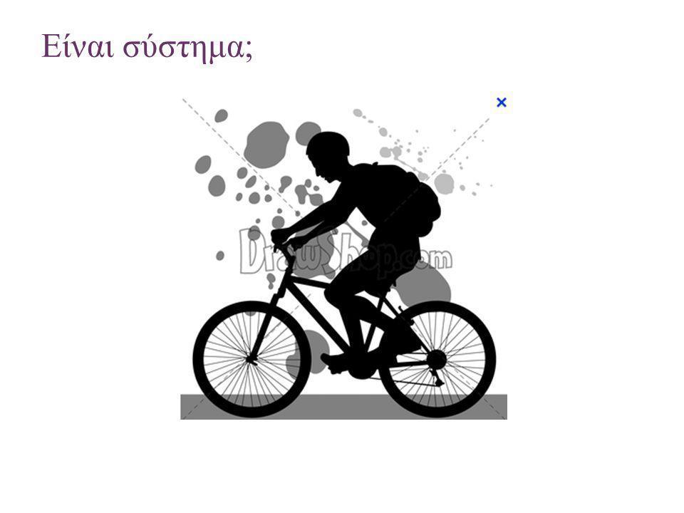 + Το ποδήλατο ως σύστημα Πτυχή 1: Στοιχεία συστήματος (τροχοί, σέλα, τιμόνι, αλυσίδα, πετάλια).