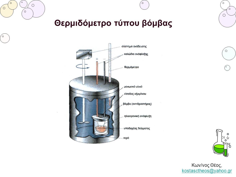 Κων/νος Θέος, kostasctheos@yahoo.gr kostasctheos@yahoo.gr Θερμιδόμετρο τύπου βόμβας