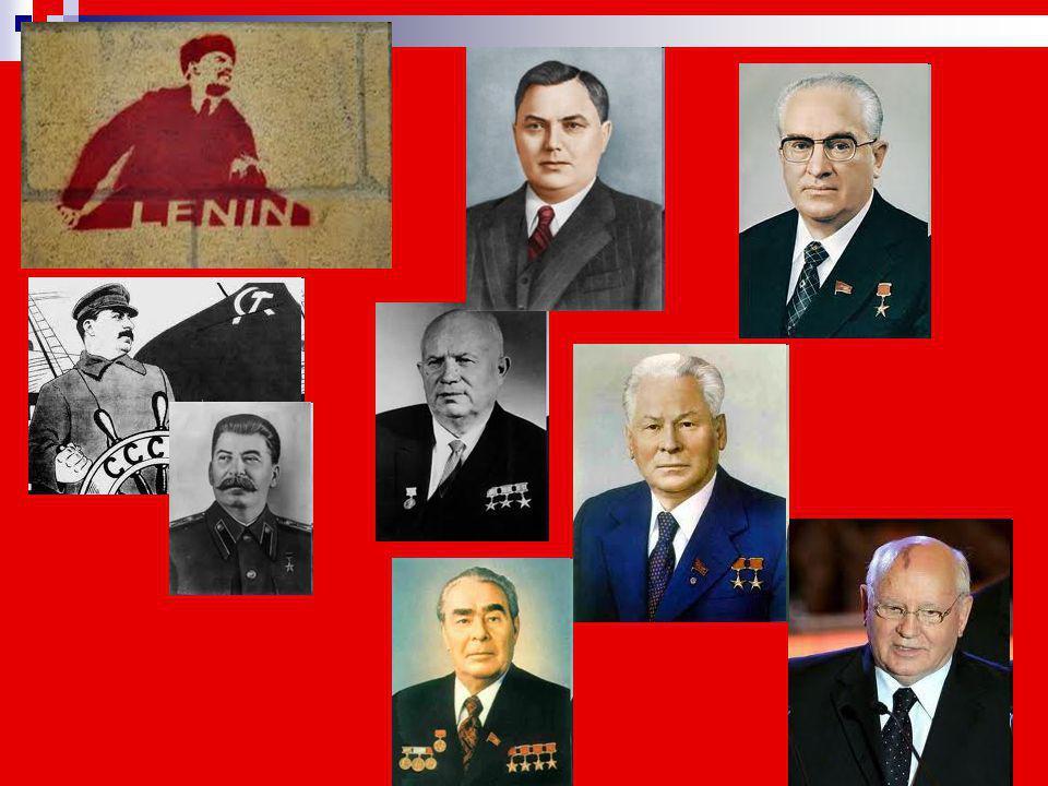 Ηγέτες της Σοβιετικής Ένωσης (1922-1991) 1922 - 1924 Βλαντιμίρ Λένιν 19221924Βλαντιμίρ Λένιν 1924 - 1953 Ιωσήφ Στάλιν 19241953Ιωσήφ Στάλιν 1953 Γκεόργ
