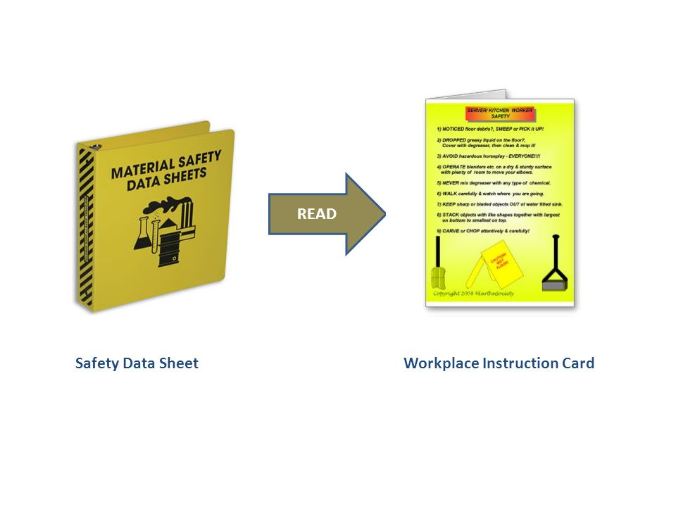 READ Safety Data SheetWorkplace Instruction Card