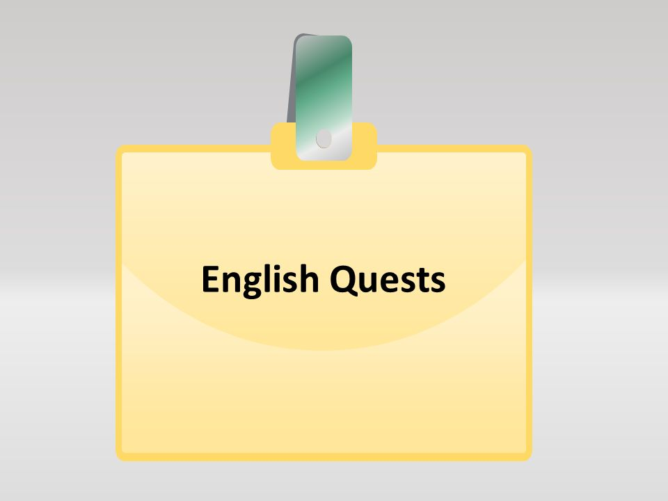 English Quests