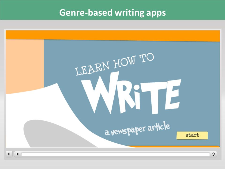 Genre-based writing apps