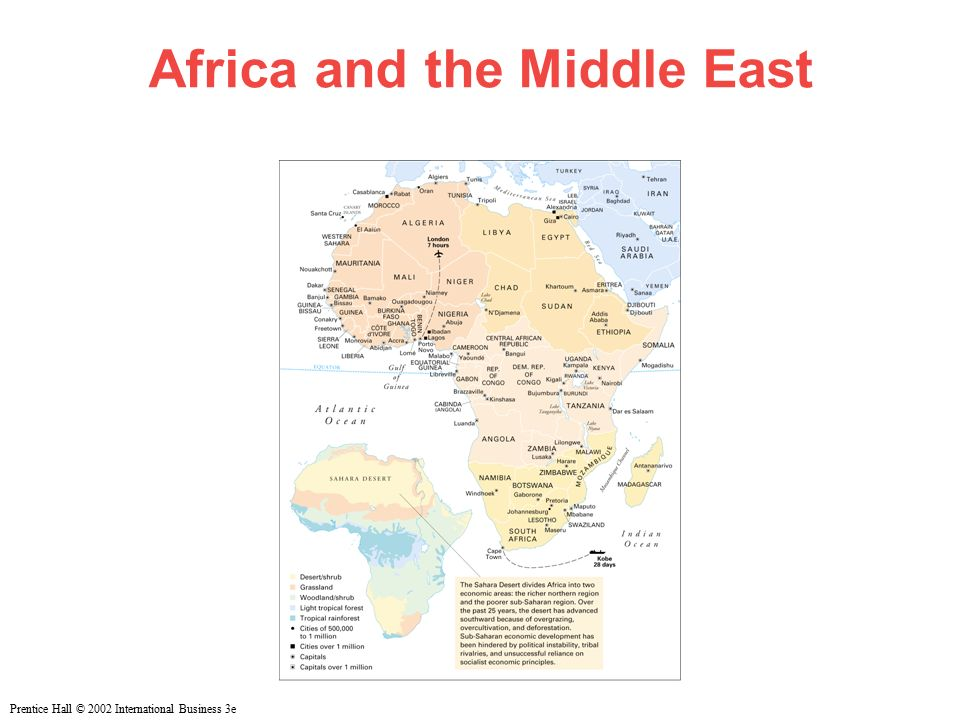 Prentice Hall © 2002 International Business 3e Africa and the Middle East