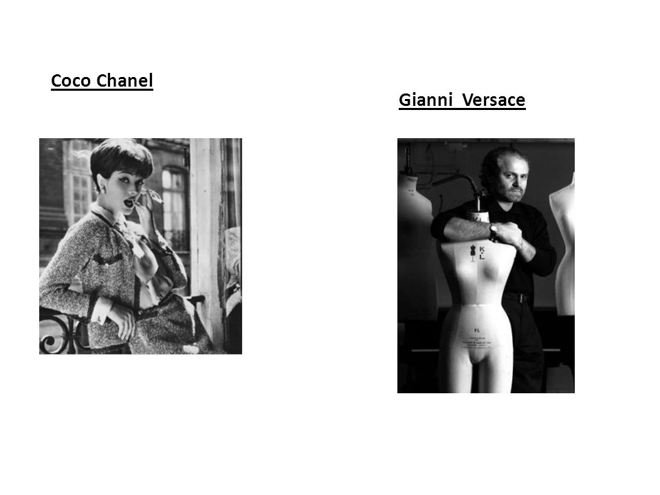 Coco Chanel Gianni Versace