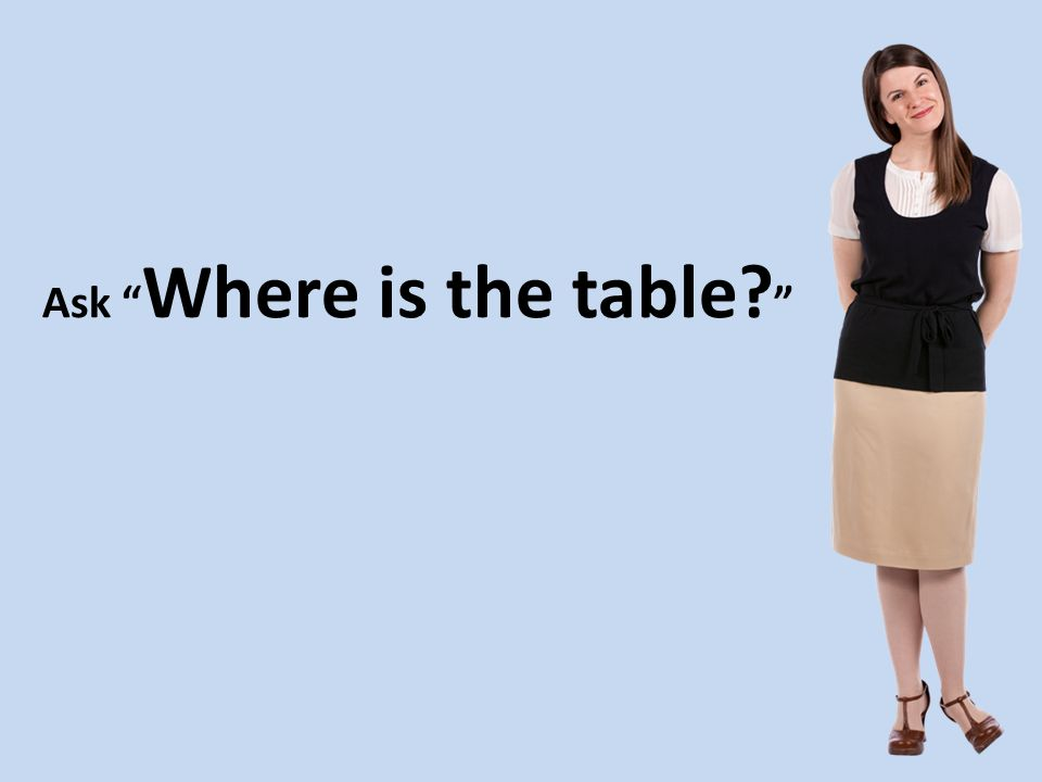 Ask Where is the table