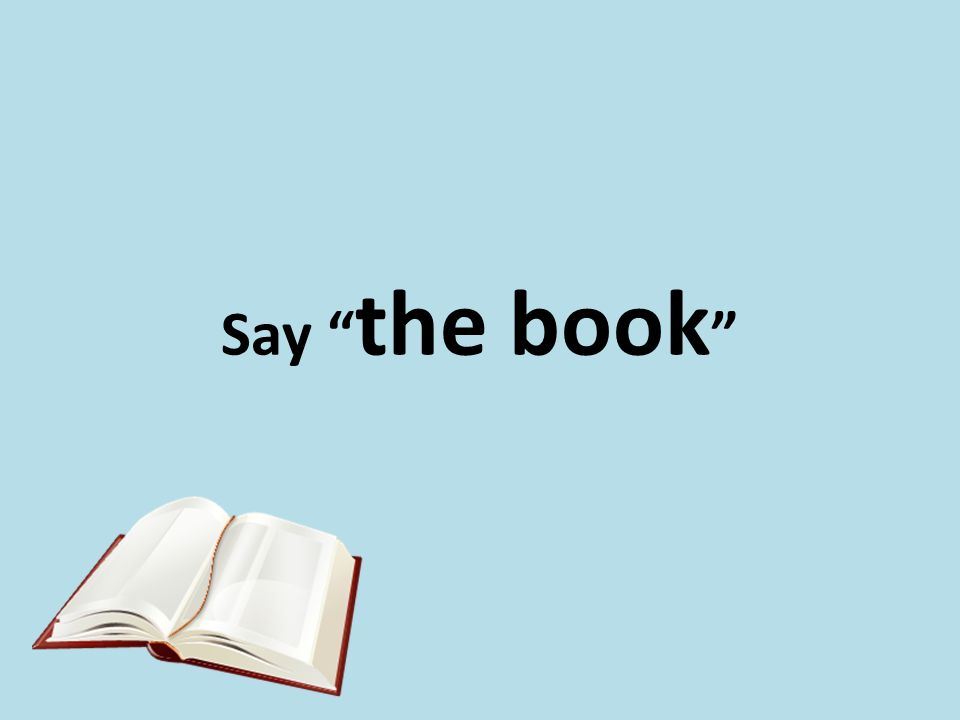 Say the book