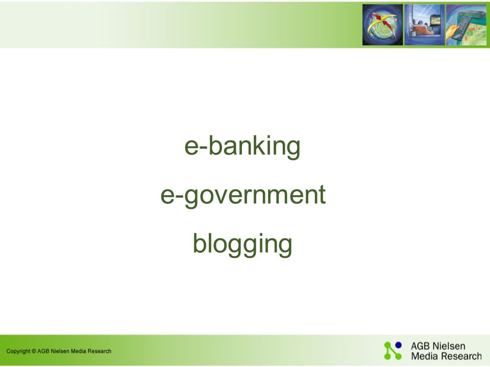e-banking e-government blogging