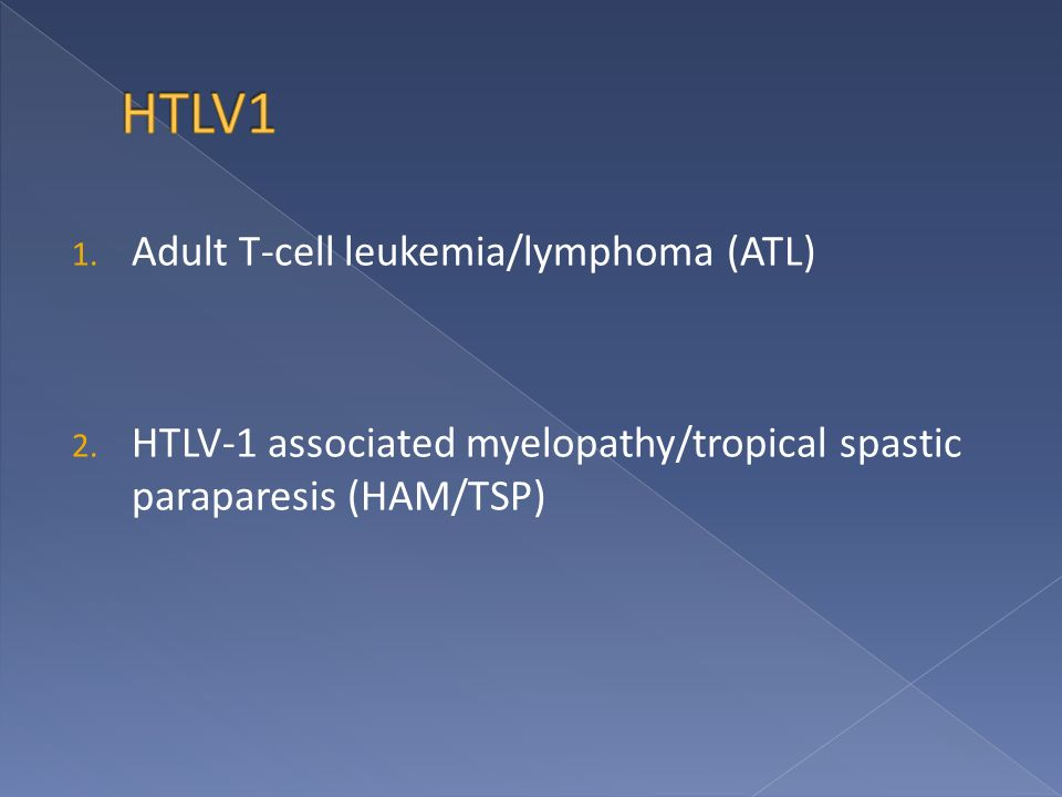 1. Adult T-cell leukemia/lymphoma (ATL) 2.