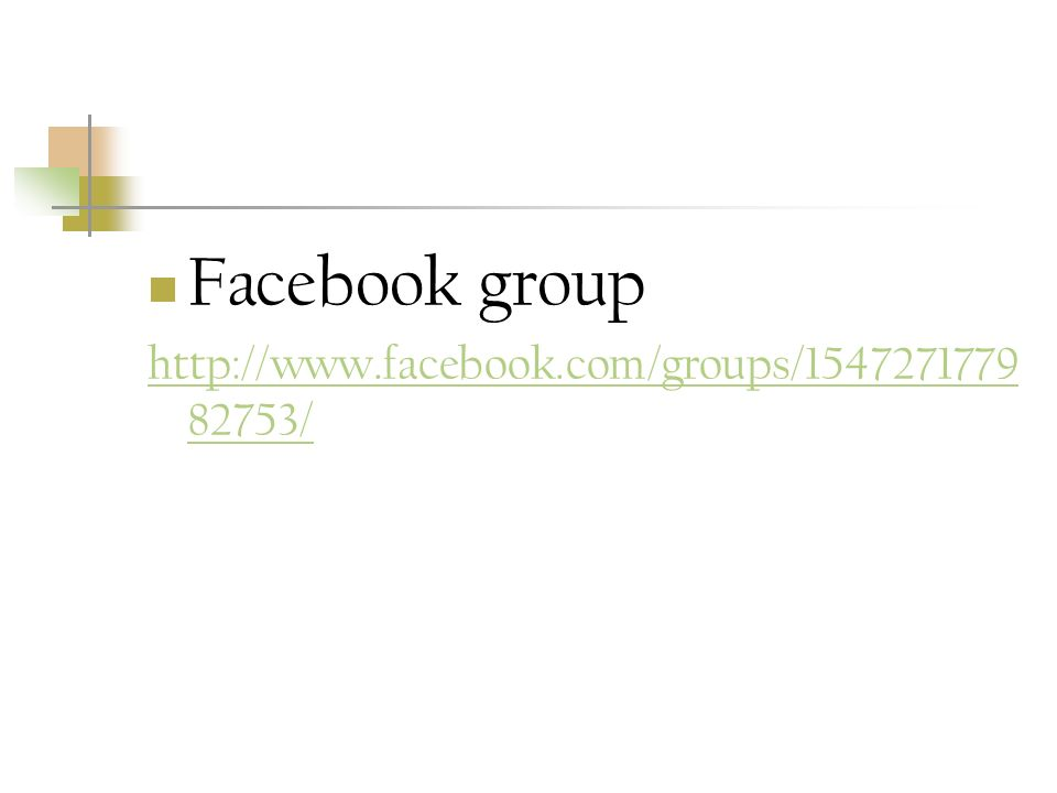 Facebook group /