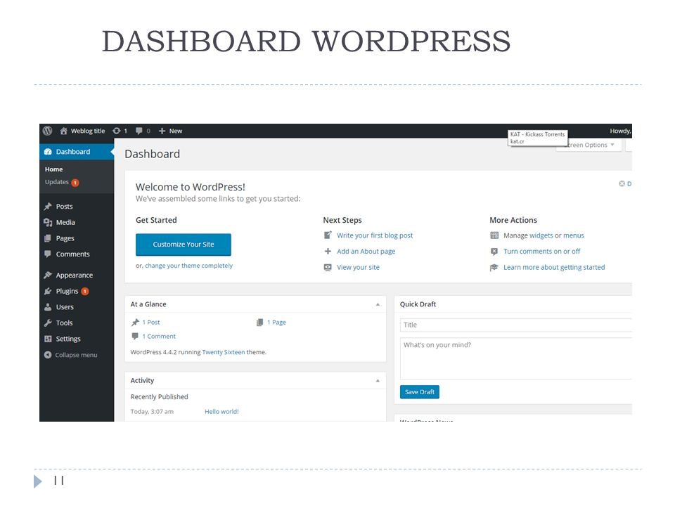 DASHBOARD WORDPRESS 11