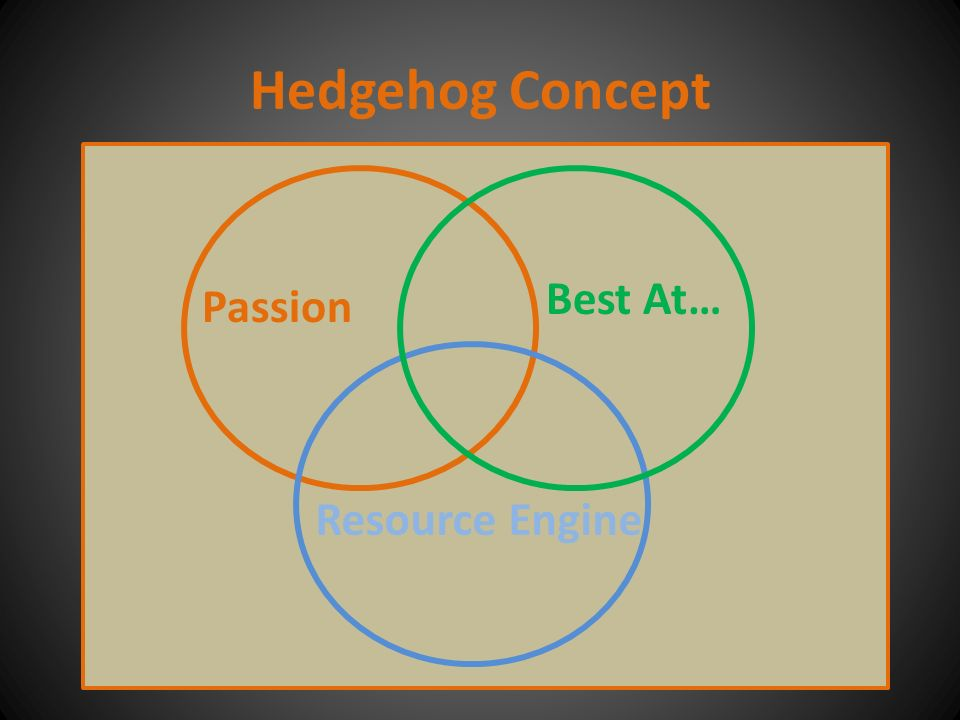 Hedgehog Concept Resource Engine Best At… Passion