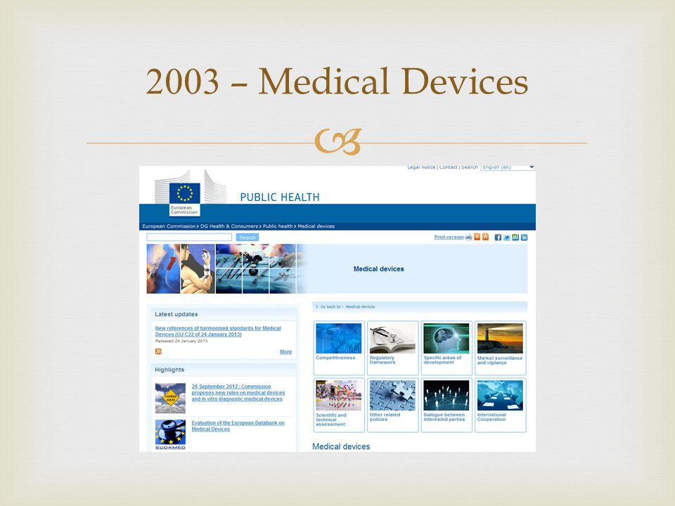  2003 – Medical Devices