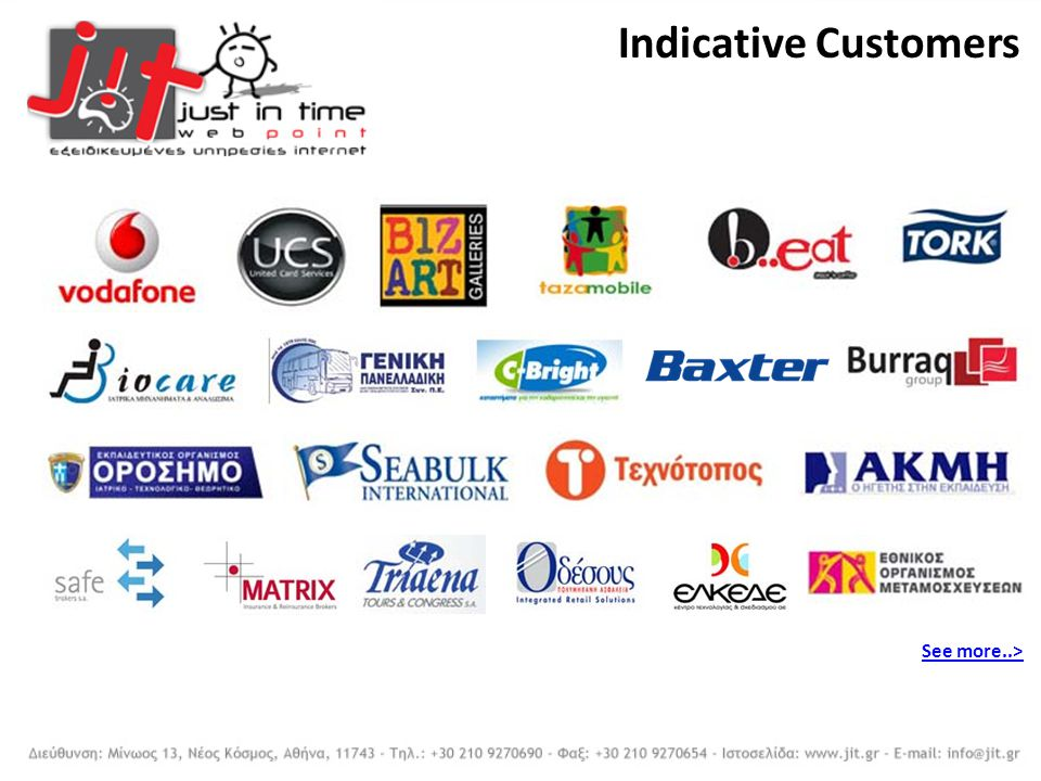 Indicative Customers See more..>
