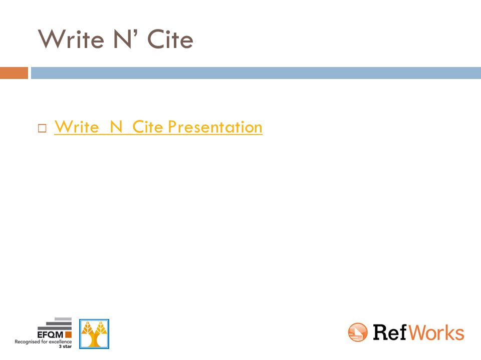 Write N' Cite  Write_N_Cite Presentation Write_N_Cite Presentation