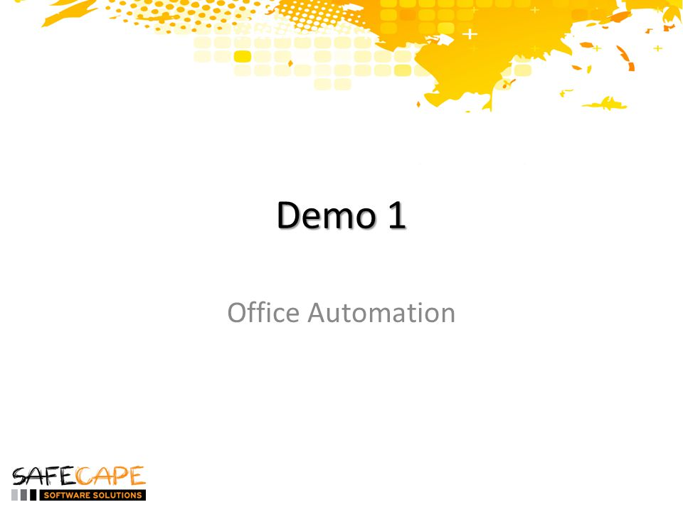 Demo 1 Office Automation